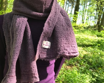 Wool cloth for women plant dyed with bluewood