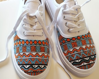 b9490b84d6 Custom handpainted shoes Custom kicks Custom sneakers Custom Trainers  Custom Vans Custom converse Trippy shoes Tribal Shoes Custom Shoes