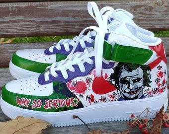 custom joker nike dunks