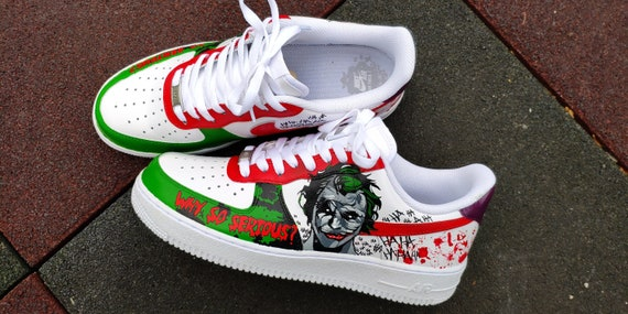 Custom sneakers Nike Air Force 1 Joker | Etsy