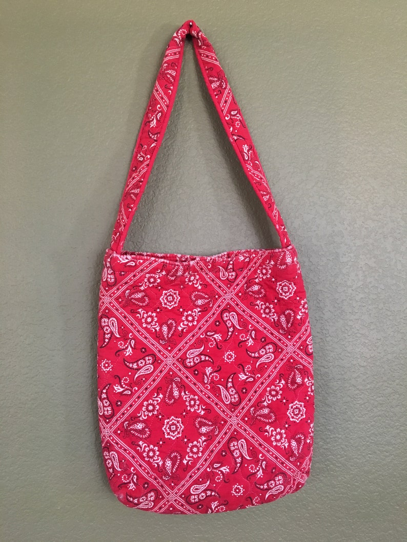 5b4170a28f Boho hippie red quilted handcerchif bag