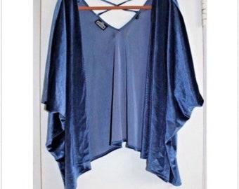 Elven Blue Kimono Vintage Jacket