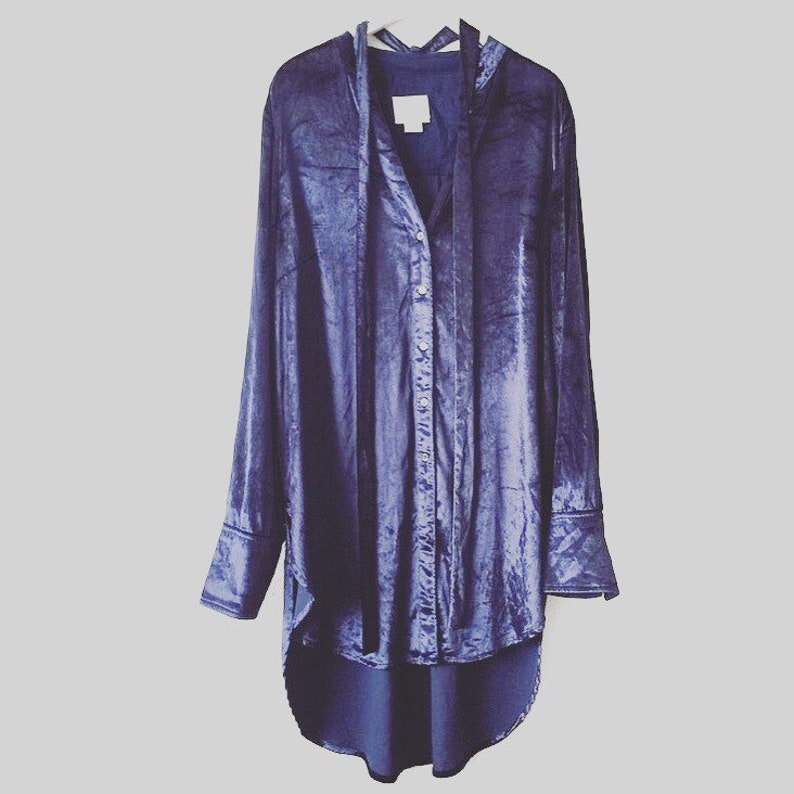 180cbbd591 Vintage Maeve Noldor Elf Velvet Navy Tunic Shirt | Etsy