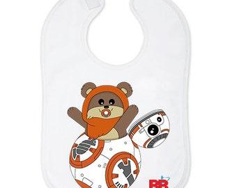 863265d62c4ba Bavoir bébé surprise Star Wars - cadeau bébé - vêtements Star Wars bébé -  bavoir geek - cadeau de naissance original
