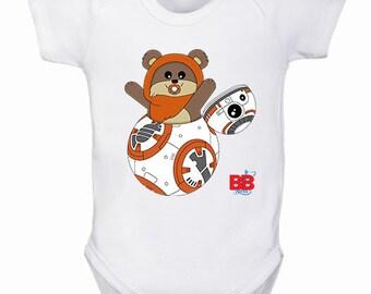 7513326d8903a Body bébé surprise Star Wars - cadeau bébé - vêtements Star Wars bébé - body  geek - cadeau de naissance original