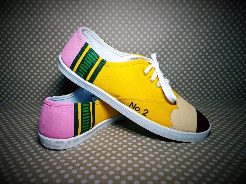656418fa091d92 TEACHER APPRECIATION GIFT Custom Painted Pencil Shoes
