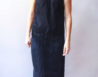 Organic cotton & hemp linen 2 tier maxi dress