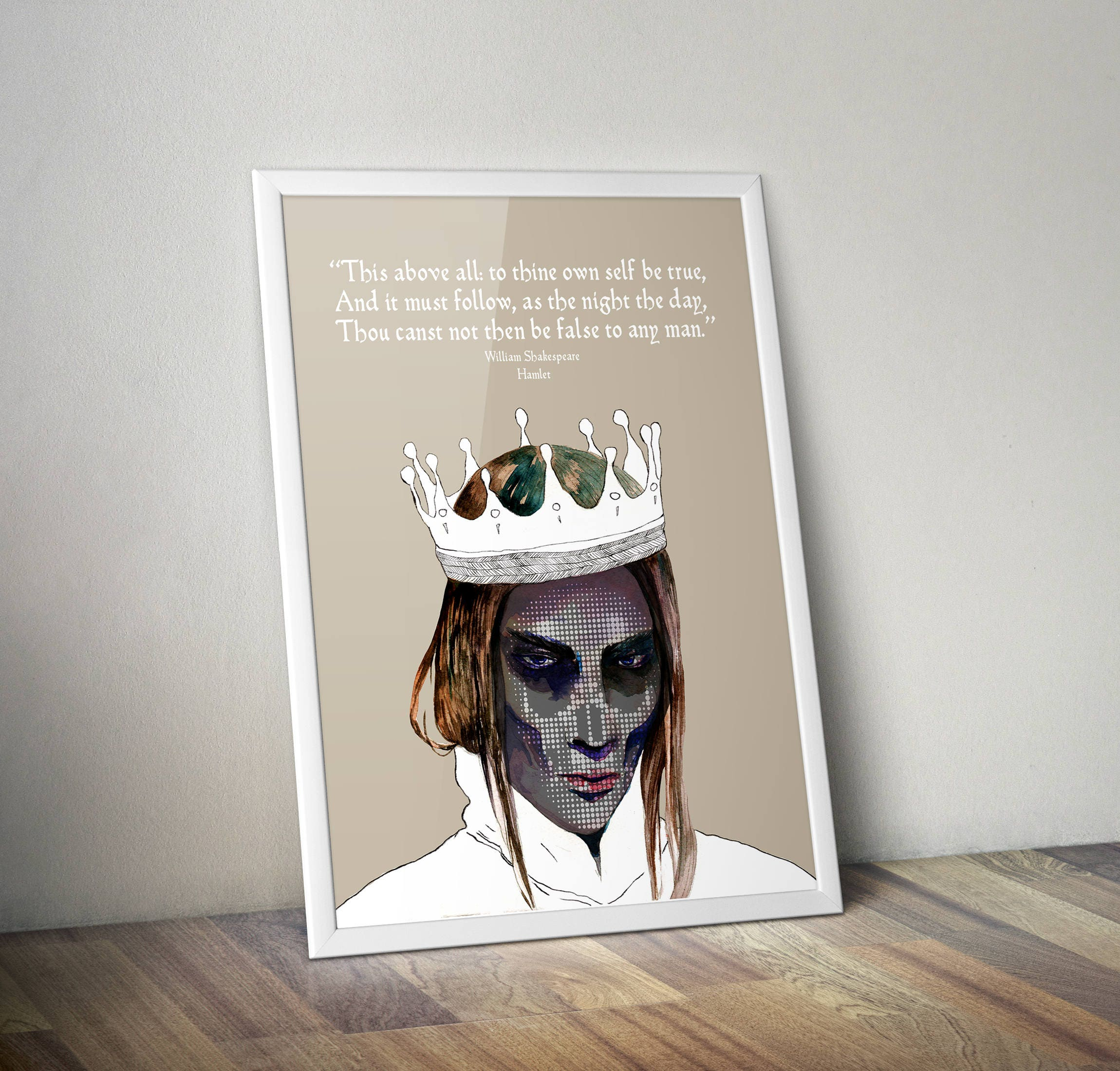 Hamlet Art Printable Wall Art William Shakespeare Quote Etsy