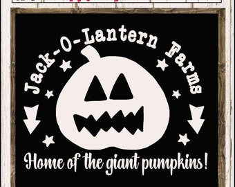 Jack-O-Lantern Farms Cutter File - Pumpkin PNG - Jack o Lantern DXF - Giant Pumpkin SVG