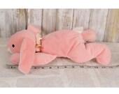 "Ty Pillow Pals Carrots Bunny Rabbit Plush 13"" Stuffed Animal 1996 Pink"