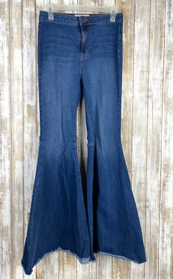 Free People Pull On Kick Flare Bell Bottom Pants S