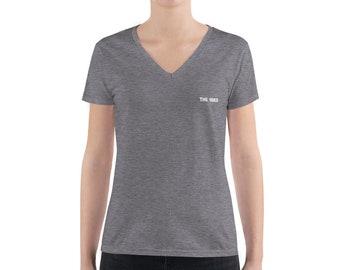 Women's Fashion Deep v-neck T-shirt / women deep v-neck T-shirt