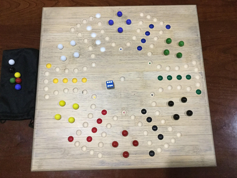 Custom Handmade Bamboo Aggravation Board Game Etsy