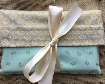 Cloth reusable gift bag, fabric gift bag, gift bag Spring, wedding gift bag, wedding gift bag, Mothers day, Birthday, Shower, cloth gift bag
