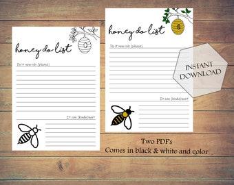 Honey Do List   Printable   PDF Download