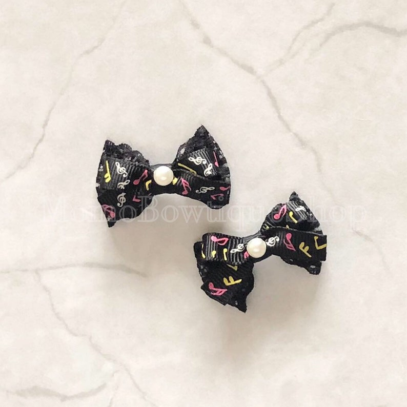 ITEM CLOSEOUT SALE Pigtail Petite - Little Music Bow Set while supplies last