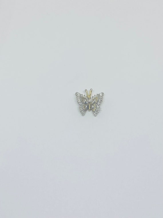 10K Yellow Gold and Diamond Butterfly Pendant/Char