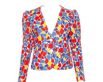 Yves Saint Laurent  Printed Jacket 1982s