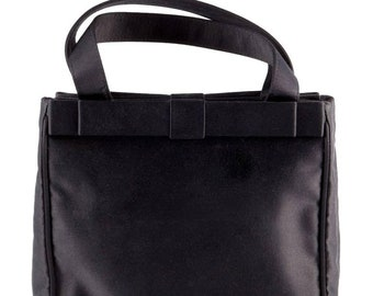 Prada Black Satin Evening Small  Tote Bag