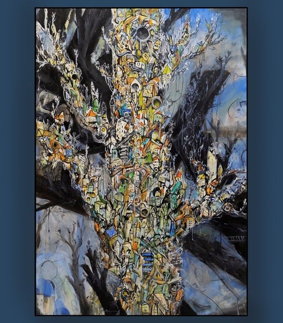 Avant-garde Painting Kandinsky Style Abstract Painting Etsy