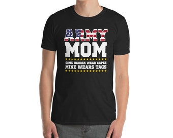 ARMY Fashion Your Son my Son Proud Soldier Mam Dad Gift Mens Military T-Shirt