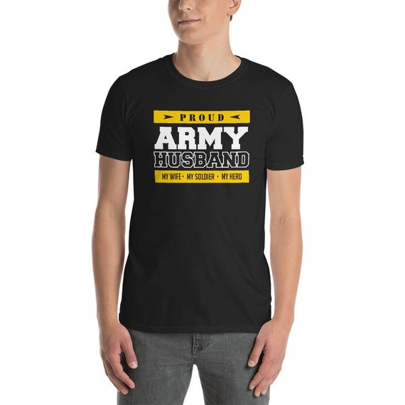 Proud Army Husband T Shirt My Wife My Hero Patriotic Army Etsy