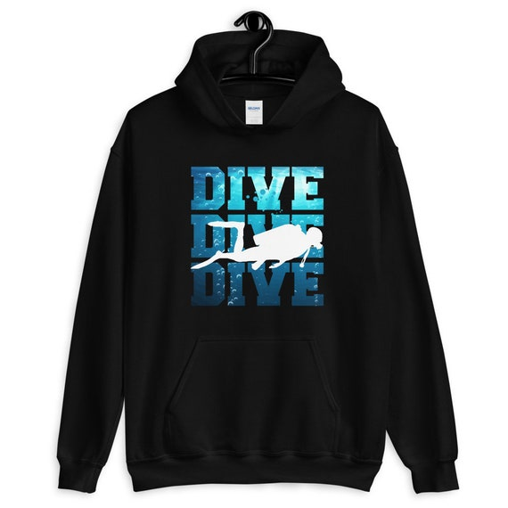 Unisex DIVEMASTER Scuba Diver Hoodie Sport Grey