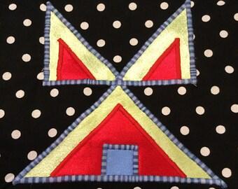 Polka-Dot Bag With Tipi Design