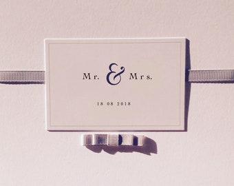 50 Invitations de mariage élégant personnalisé