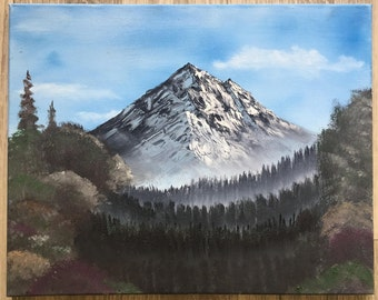 Original Oil Painting Bob Ross Style