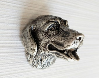 Rottweiler Dog Drawer Knob Pull Handle Crystal Glass Circle Shape Cabinet Knobs with Screws for Home Office Cabinet Cupboard 35mm, 4 PCS