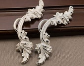 Shabby Chic Dresser Drawer Pulls Handles White Gold Silver French Country Kitchen Cabinet Handle Pull Antique Furniture Hardware