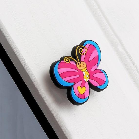 Papillon enfants commode boutons tiroir boutons tire caoutchouc souple enfants animaux porte - Bouton meuble bebe ...