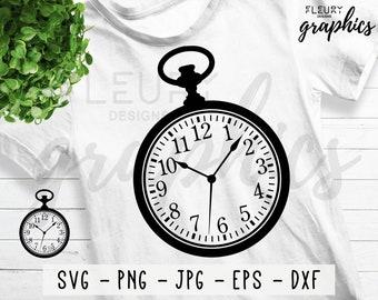 2c4b329f9 Alice in Wonderland SVG, DXF, PNG - Pocket Watch svg - Watch dxf - Alice in  Wonderland svg - Cricut Silhouette Cameo Cut File