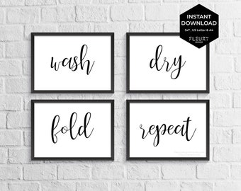 Laundry Schedule Printable Wall Art For Diy Laundry Room Etsy