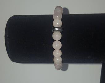 Rose Quartz Bracelet 8mm crystal beads