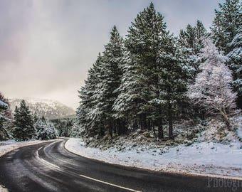 Cairngorms - First day of winter, Scotland, UK, Landscape, Nature, Hills, Scottish Scenery, Cairn Gorm, Highlands, Fine Art Photography