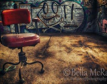 Urban Decay - Melbourne, Australia, Abandoned Power Station, Graffiti Art, Urban Exploration, Fine Art Photograph