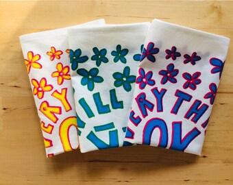 3 x Hankies pack   Handkerchiefs   Eco Friendly   Screen-printed   Gift   Mens Ladies Hankies