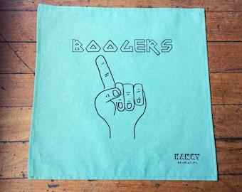 Hanky - Boogers. Kids, Men, Women. Screen-printed, handmade hankies in Australia. Zero waste, vegan & cruelty free handkerchief.