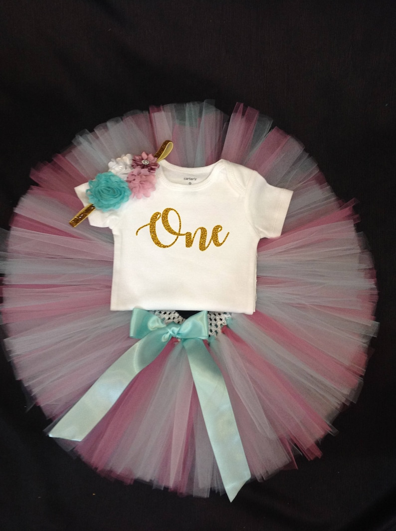 First Birthday Girl Outfit Birthday Tutu 1st Birthday Tutu Cake Smash First Birthday Outfit Girls Birthday Tutu 1st Birthday Tutu Set