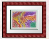 Acrylic Pour 113 - Full Cross Stitch Only - Confident Beginner to Advanced - Easy To Read Chart
