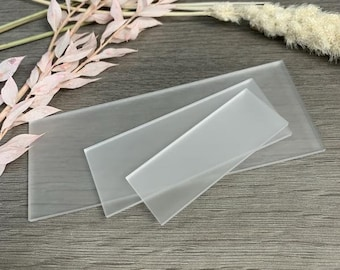 Frosted Blank Acrylic Rectangle Pieces, 3mm Acrylic, Frosted Plain Piece, Wedding Place Settings, Acrylic Blanks, Various Sizes Available