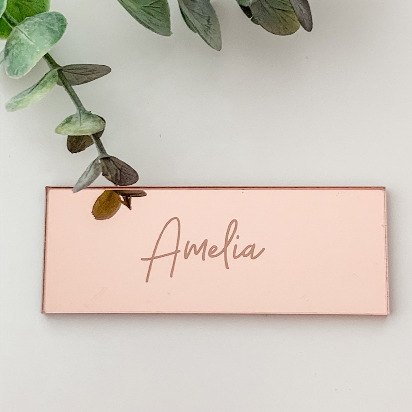 Tischkarte Hochzeit Rosegold