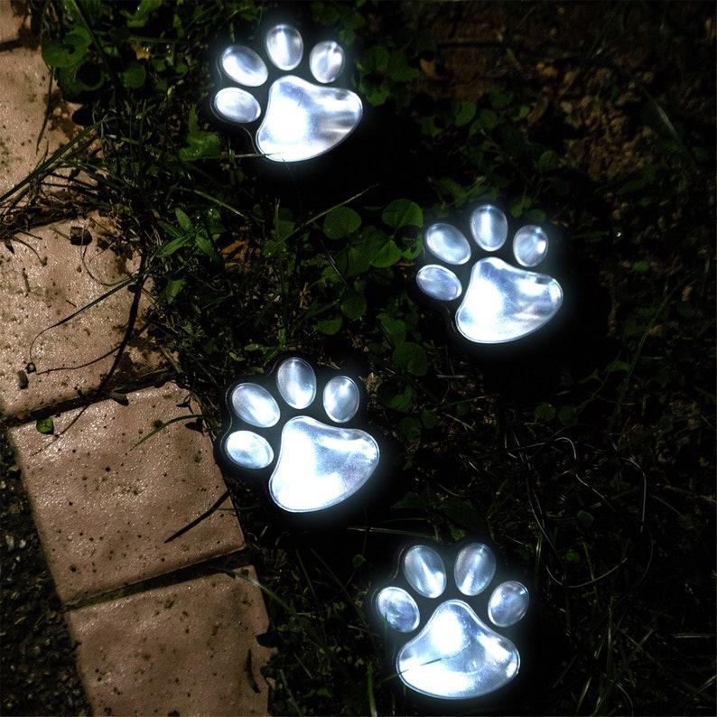 Solar Dog Paw Path Lights, 4 Per String