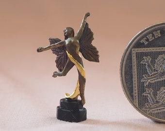 Bronze Art Deco Butterfly girl by Neil Carter