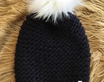 New England Patriots - Dark Navy Blue Hand Knit Hat - Deep rich color..  FREE SHIPPING! b8065cf97