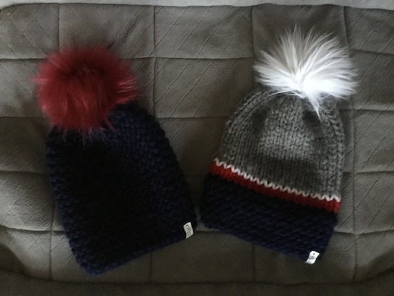 New England Patriots Hand Knit Hats One of a Kind Pats hat  cdb190bea
