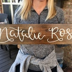 Wooden Nursery Name Sign / Baby Name Sign / Nursery Sign / Baby Shower Gift / Nursery Name Sign /Baby Gifts
