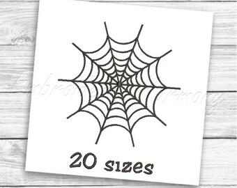 4 Sizes DesignsbyHocane Instant Download Machine Embroidery Design Embroidery Patterns Happy Halloweeen Spider Web